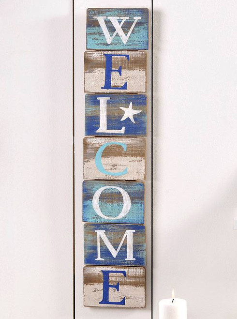 Wood Welcome Wall Plaque