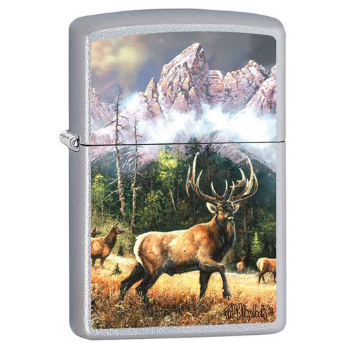 Elk Call to Challenge Zippo Lighter