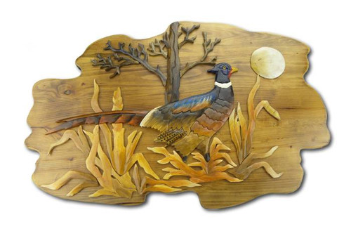 Pheasant Wooden Wallhanging