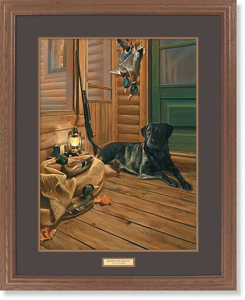 """Bountiful Day"" Black Lab Framed Wildlife Print"