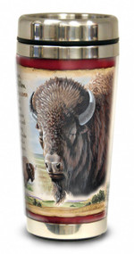 American Bison 16-oz Steel Travel Mug