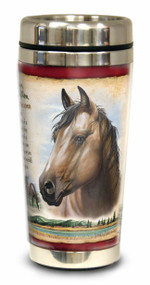 American Mustang 16-oz Steel Travel Mug