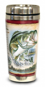 Largemouth Bass 16-oz Steel Travel Mug