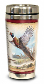 Pheasant 16-oz Steel Travel Mug