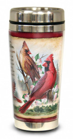 Northern Cardinal 16-oz Steel Travel Mug