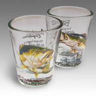 Largemouth Bass Shot Glass Set of Two