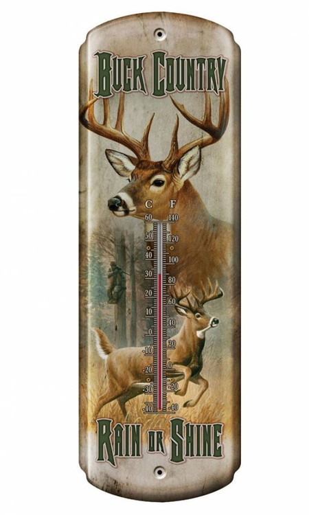 Buck Country Tin Thermometer American Expedition