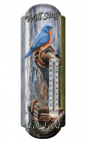 Bluebird Tin Outdoor Thermometer