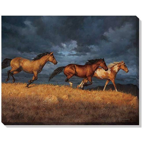 """Thunder Ridge (Horses)"" Wrapped Canvas Art"