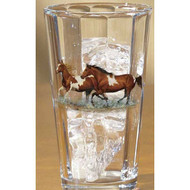 Horses Pint Glass with ice
