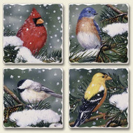 Backyard Birds Coaster Set