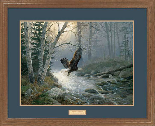 Quot Foggy Morning Flight Quot Bald Eagle Framed Wildlife Art Print