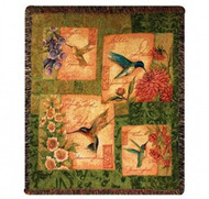 """Wings and Blossoms"" Woven Blanket"