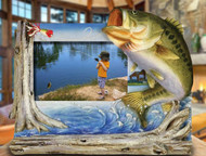 Bass Fishing 3D 4x6 Photo Frame