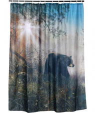 "Bear Shower Curtain - ""Shadow In The Mist"""