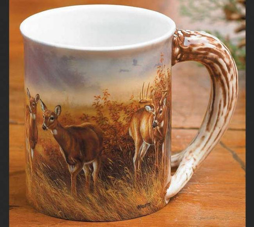 Whitetail Deer Sculpted Coffee Mug