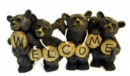 Black Bears Welcome Sculpture