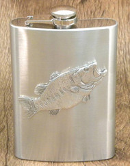 8oz. Pewter Largemouth Bass Flask