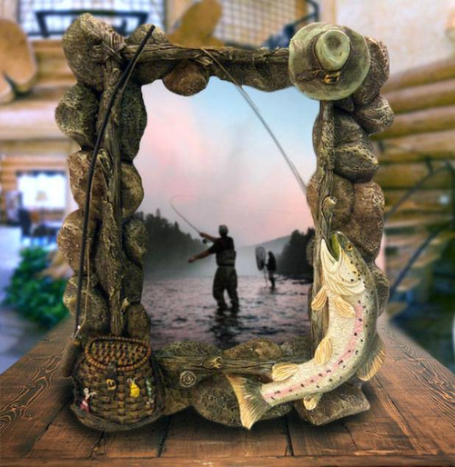 fishing photo frame 4x6 american expedition