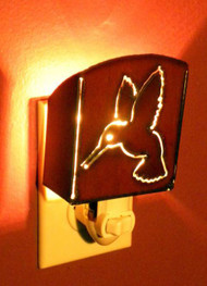 Iron Hummingbird Nightlight