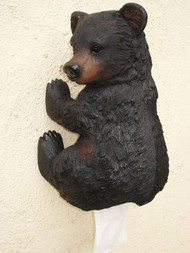 Humorous Black Bear Toilet Paper Holder