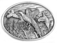 Pheasant Pewter Belt Buckle