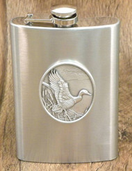 8 oz. Pewter Mallard Duck Flask