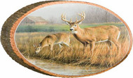 Deer Standing Guard Rustic Wooden Plaque