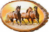 Sunrise Run Horse Rustic Wooden Plaque
