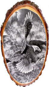 Bald Eagle Rustic Wooden Plaque