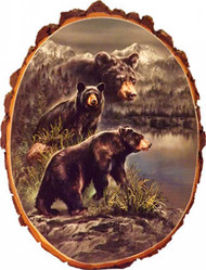 Black Bear Country Rustic Wooden Plaque