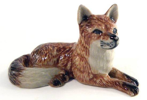 Red Fox Lying Down Porcelain Figurine
