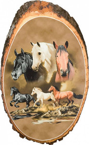 Horse Partners Rustic Wooden Plaque