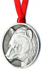 Bear Pewter Ornament