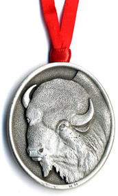 Side 1 of the Bison Pewter Ornament