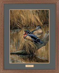 """Backwater Pair"" Framed Wildlife Art Print"