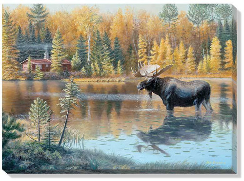 The Loner Moose Wrapped Canvas Art