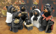 8 piece Black Bear Nativity Set