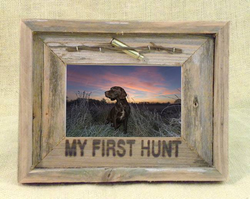 My First Hunt 4x6 Barn Wood Photo Frame