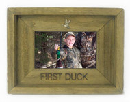 First Duck 4X6 Barn Wood Photo Frame