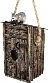 Raccoon Outhouse Bird House
