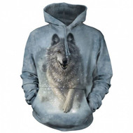 Snow Plow Wolf Classic Hooded Sweatshirt