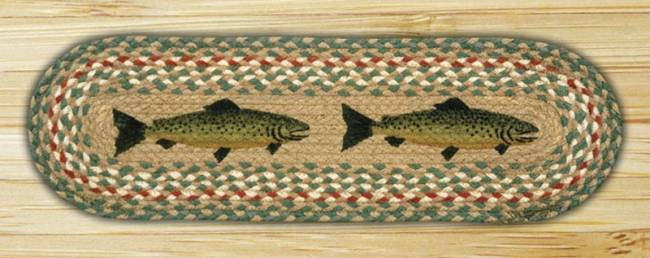 Fish oval table runner american expedition for Fish bathroom rug
