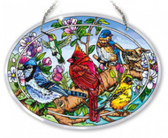 Birds and Blossoms Stained Glass Suncatcher