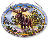 Northwoods Moose Stained Glass Suncatcher