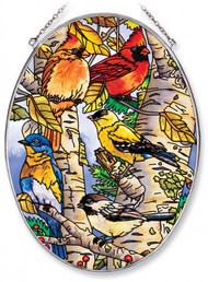Songbirds Stained Glass Suncatcher