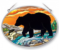 Bear Silhouette Stained Glass Suncatcher