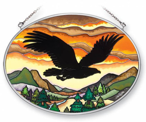 Eagle Silhouette Stained Glass Suncatcher