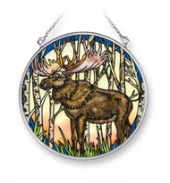 Into the Woods Moose Stained Glass Suncatcher