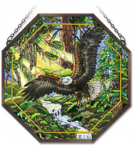 Eagle Flight Stained Glass Suncatcher